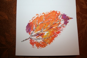 Leaf art inspired by fall